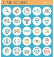 Travel line icons set web design elements