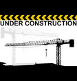 under construction background with crane vector image