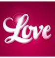 Valentine day background with word love on pink vector image