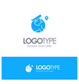 world location fly job blue solid logo with place vector image vector image