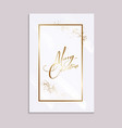 xmas card with gold sparkle and messy gold brush vector image vector image