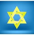Yellow Star of David vector image vector image