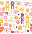 seamless background valentine s day vector image