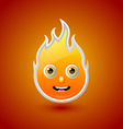 Fire character vector image