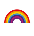Rainbow icon flat vector image