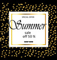 summer sale banner template background vector image