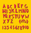 abc latin letters and numbers vector image