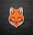 abstract triangle polygonal fox snout vector image