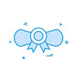 awward certificate icon design vector image vector image