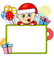 baby dressed as santa claus vector image