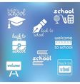 back to school symbols vector image vector image