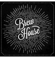 Beer Logo On Chalk Background vector image vector image