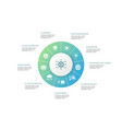 big data infographic 10 steps circle design vector image