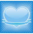 blue heart with ribbon vector image