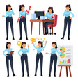 businesswoman characters young business woman vector image