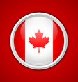 Canadian circular badge vector image