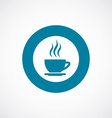 cap of tea icon bold blue circle border vector image vector image