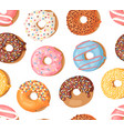 cartoon donuts hand drawn vector image