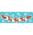 Christmas sticker set Reindeer Santa vector image vector image