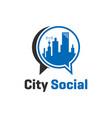 city social logo concept vector image