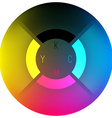 CMYK Color Wheel vector image