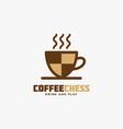 coffee chess logo vector image