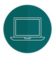 computer laptop isolated icon vector image vector image