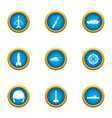 counteract icons set flat style vector image vector image