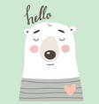 cute card with bear vector image vector image