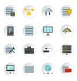 Database icons set flat style vector image
