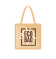eco bag icon in flat style isolated on white vector image