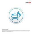 firefighters truck icon - white circle button vector image