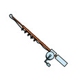 fishing rod isolated vector image vector image