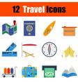 Flat design travel icon set vector image vector image
