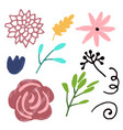 flower graphic design set of floral vector image
