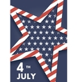 funny card happy 4th july feast day american vector image