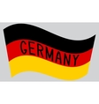 German flag waving with word Germany vector image