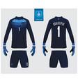 goalkeeper jersey or soccer kit mockup templete vector image vector image