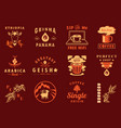 graphic element for coffee cafe vector image