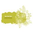 green floral banner vector image