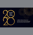 happy new year 2020 typography text celebration vector image vector image
