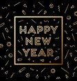 happy new year greeting card with inscription vector image vector image