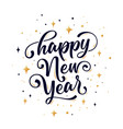 happy new year lettering text for happy new year vector image