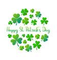 happy st patricks day round ireland vector image vector image