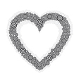 heart black circle vector image vector image