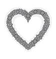 heart black circle vector image vector image