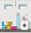 interior equipment of a basement vector image vector image