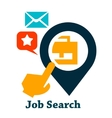 job search icon vector image