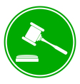 Judge gavel button vector image vector image