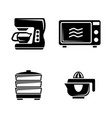 kitchen accessories simple related icons vector image